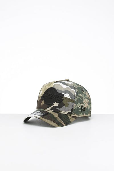 New Era Los Angeles Lakers 9FORTY K-Frame Multi-Camo/Black