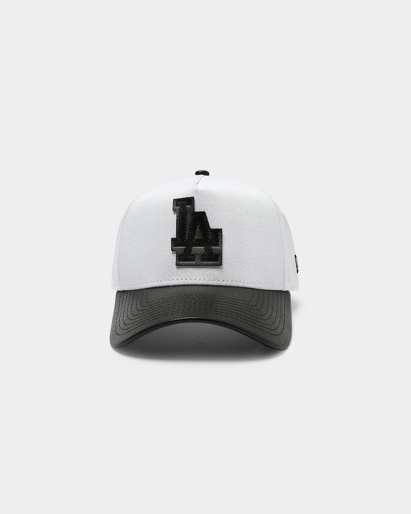 New Era Los Angeles Dodgers PU Leather 9FORTY A-Frame Snapback White/Black