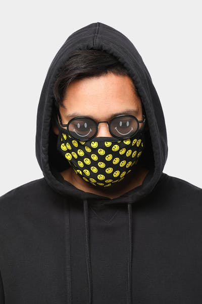 Unisex Goat Crew Smiley Face Mask Black