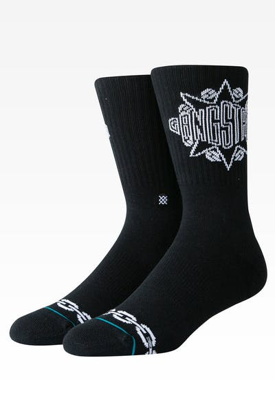 Stance Gangstarr Crew Sock Black