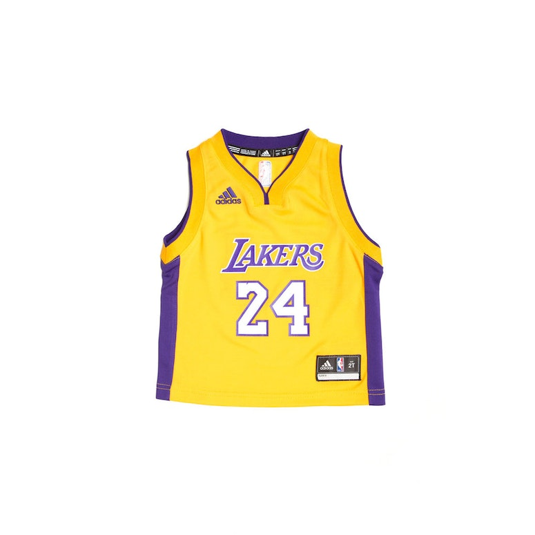 010e486cdab5 ... Adidas Los Angeles Lakers Home Toddler Jersey Kobe Bryant 24 Gold ...