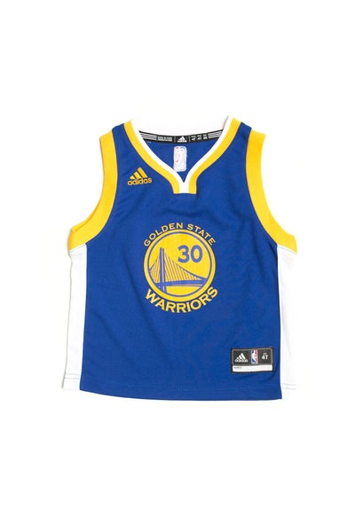 Adidas Golden State Warriors Road Toddler Jersey Stephen Curry 30 Blue