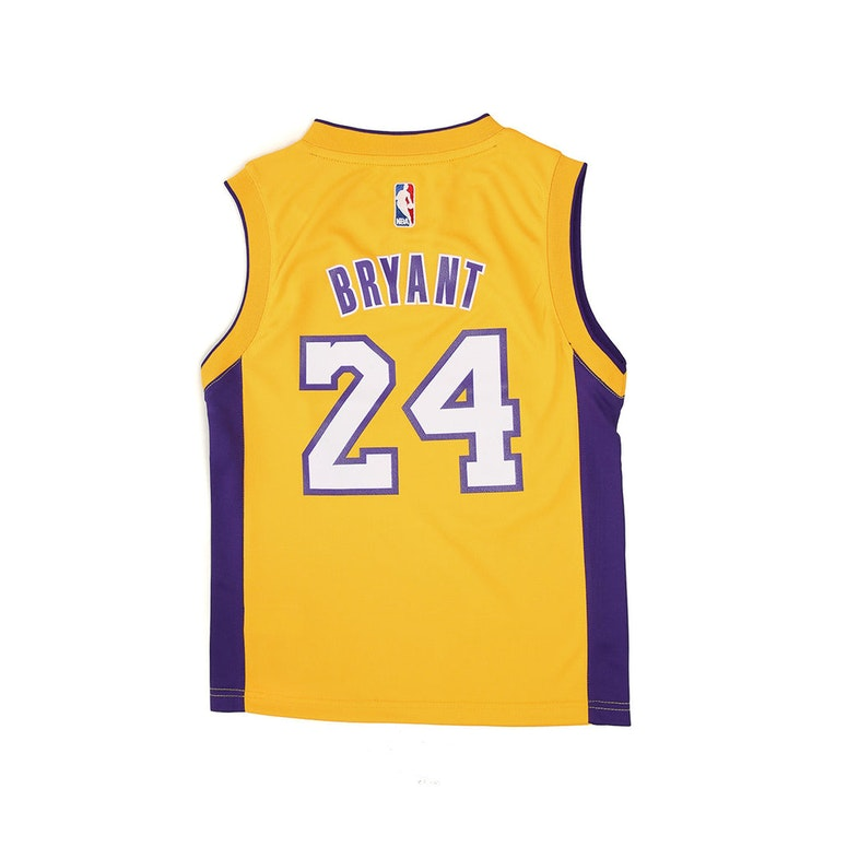 Adidas Lakers Replica Home Youth Jersey Bryant 24 Gold