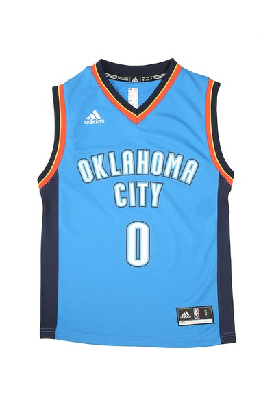 Adidas Thunder Replica Road Youth Jersey Westbrook 0 Royal