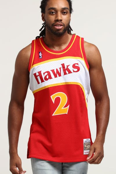 Mitchell & Ness Atlanta Hawks Stacey Augmon #2 Swingman NBA Jersey Red