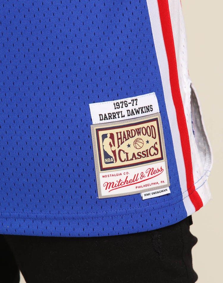 reputable site 63896 1a12c Mitchell & Ness Philadelphia 76ers Darryl Dawkins #53 NBA Swingman Jersey  Royal