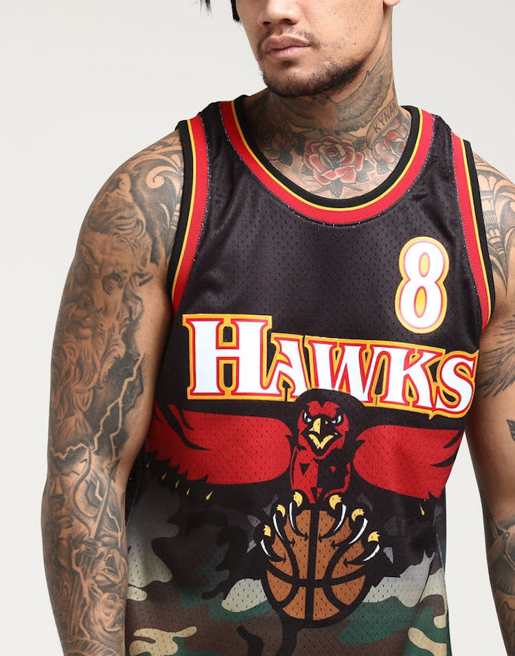 b3cc1ce7a3772 Mitchell   Ness Atlanta Hawks Steve Smith  8 Swingman NBA Jersey Camo –  Culture Kings
