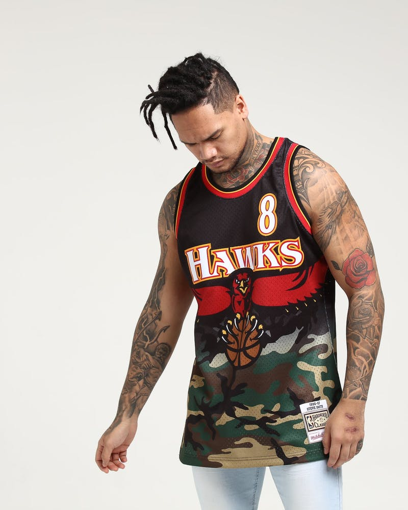 Mitchell & Ness Atlanta Hawks Steve Smith #8 Swingman NBA Jersey Camo