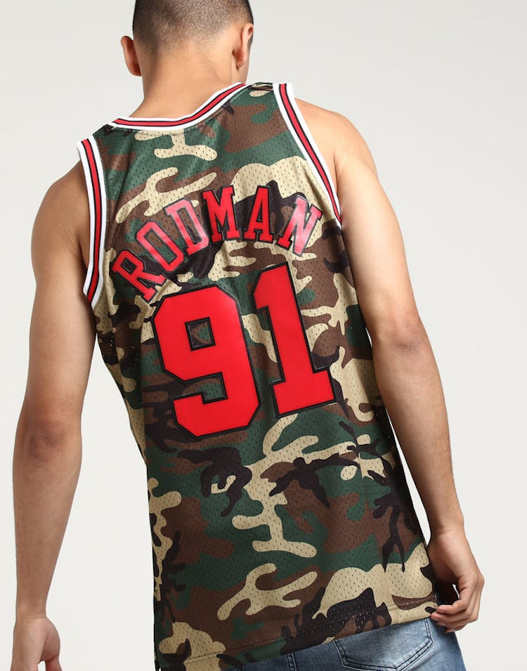 78cd44529c434 Mitchell   Ness Chicago Bulls Dennis Rodman  91 Swingman NBA Jersey Ca –  Culture Kings