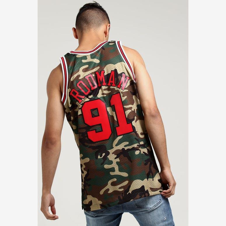4e2d0532c9b Mitchell   Ness Chicago Bulls Dennis Rodman  91 Swingman NBA Jersey Ca –  Culture Kings