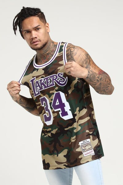 851d5fb18 Mitchell   Ness Los Angeles Lakers Shaquille O Neal  34 Swingman NBA Jersey  Camo
