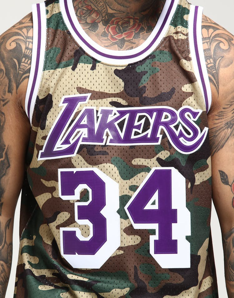c58b6db481a Mitchell   Ness Los Angeles Lakers Shaquille O Neal  34 Swingman NBA Jersey  Camo