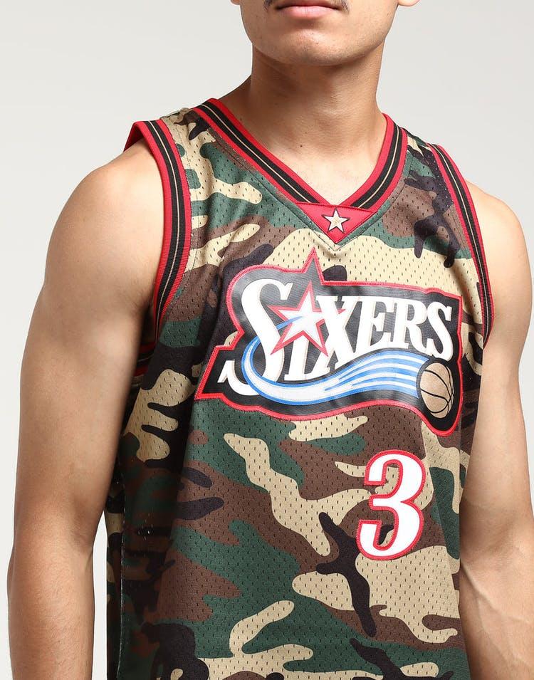 eaa47ff0b2e Mitchell & Ness Philadelphia 76ers Allen Iverson #3 Swingman NBA Jersey Camo
