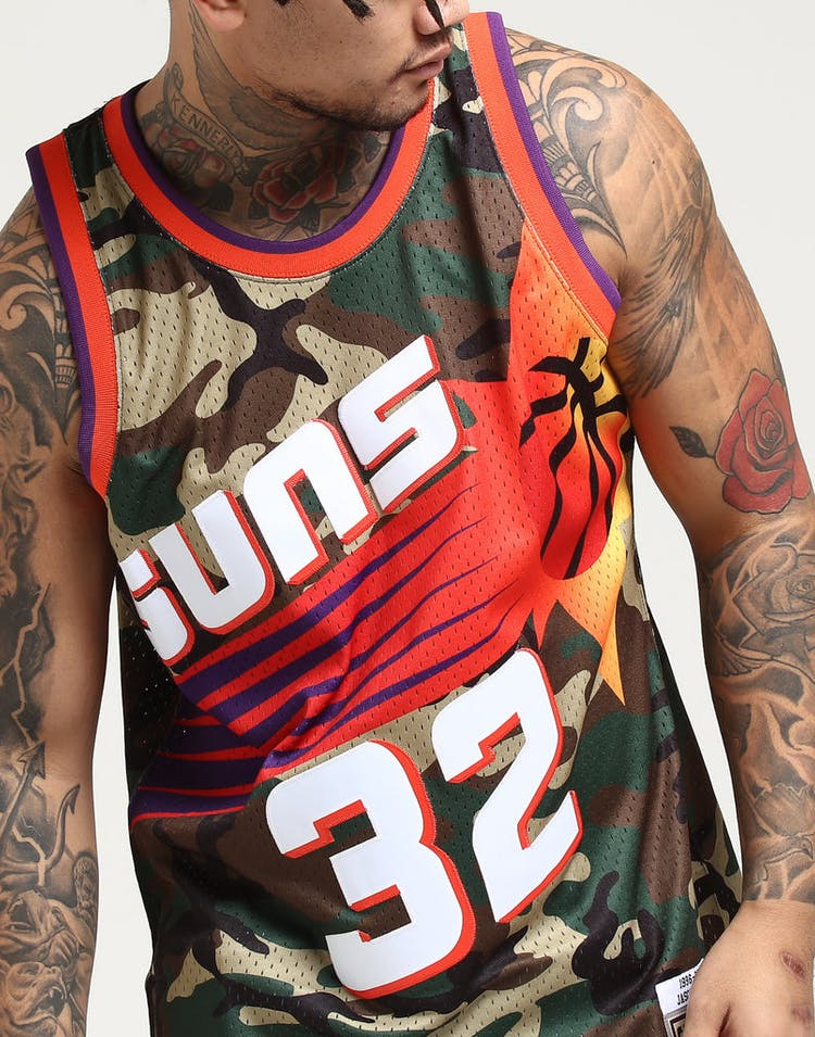 38e305f002c Mitchell   Ness Chicago Phoenix Suns Jason Kidd  32 Swingman NBA Jersey Camo