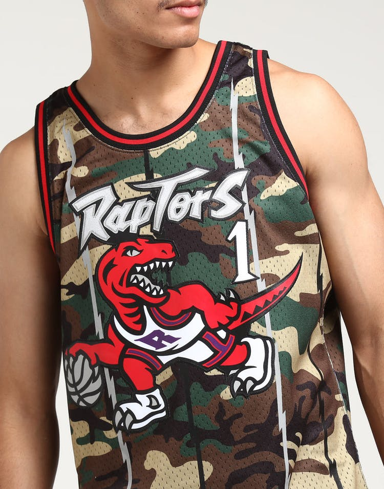 b724a5b78d3 Mitchell & Ness Toronto Raptors Tracy McGrady #1 Swingman NBA Jersey Camo