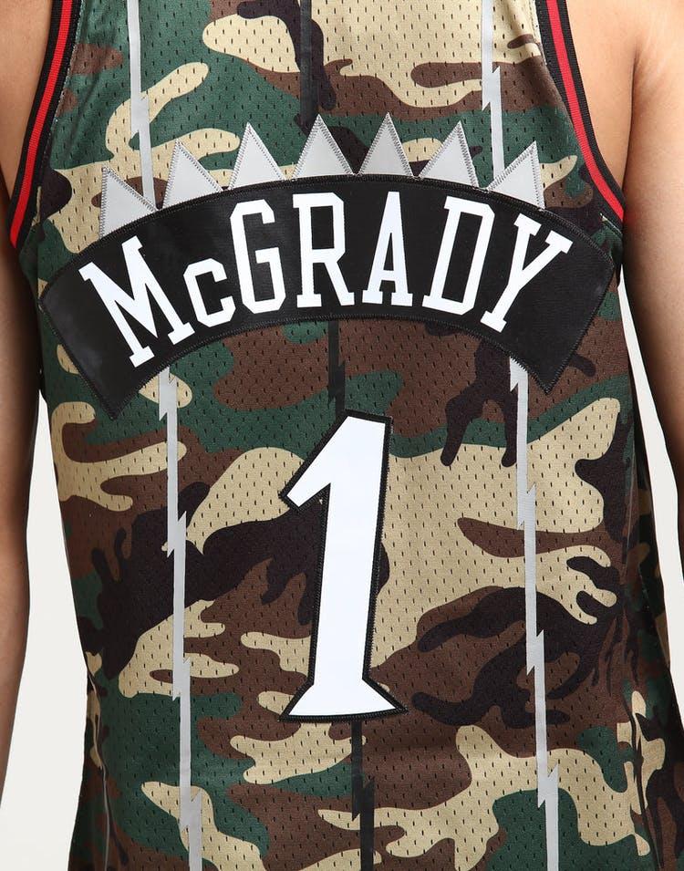 85b1417f58ed Mitchell   Ness Toronto Raptors Tracy McGrady  1 Swingman NBA Jersey Camo