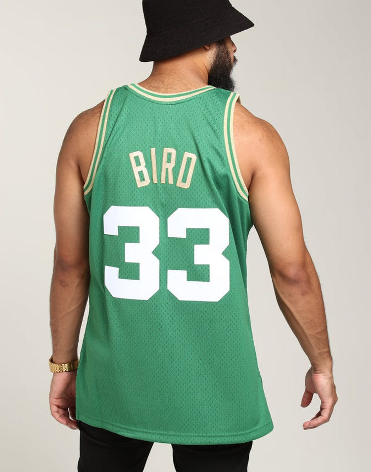 wholesale dealer aafdd 18653 Mitchell & Ness Boston Celtics Larry Bird #33 Chinese NY Jersey Green