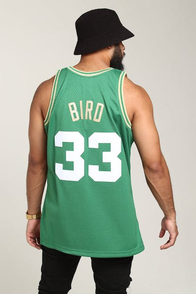 9b6dfbc09bc Mitchell   Ness Boston Celtics Larry Bird  33 Chinese NY Jersey Green