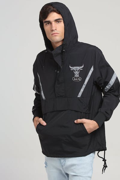 Mitchell & Ness Chicago Bulls Half Zip Anorak Black