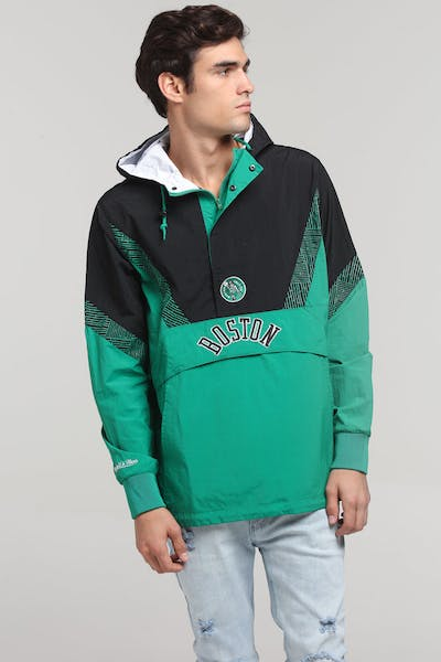 Mitchell & Ness Boston Celtics Half Zip Anorak Green/Black