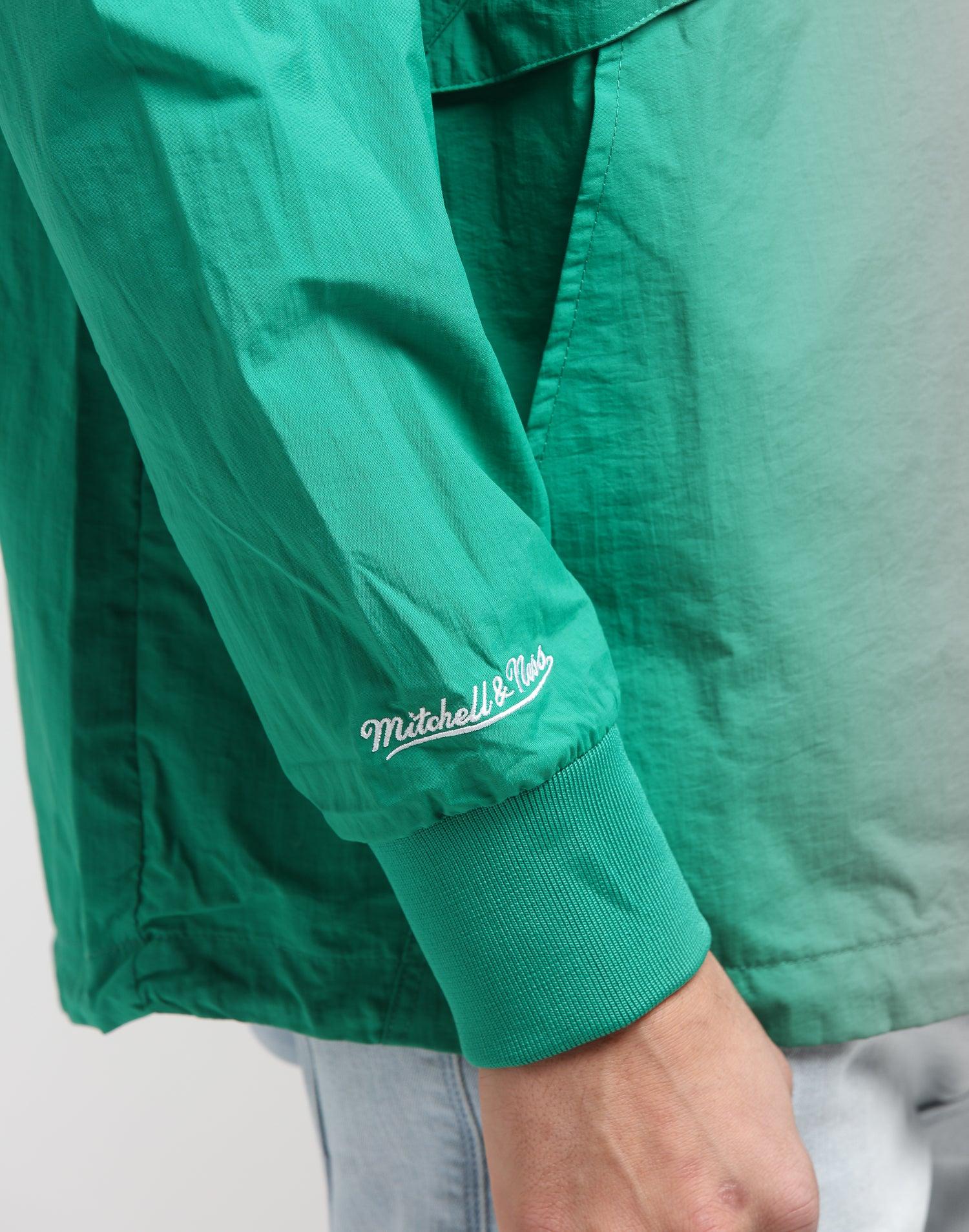 Mitchell & Ness Boston Celtics Half Zip Anorak GreenBlack