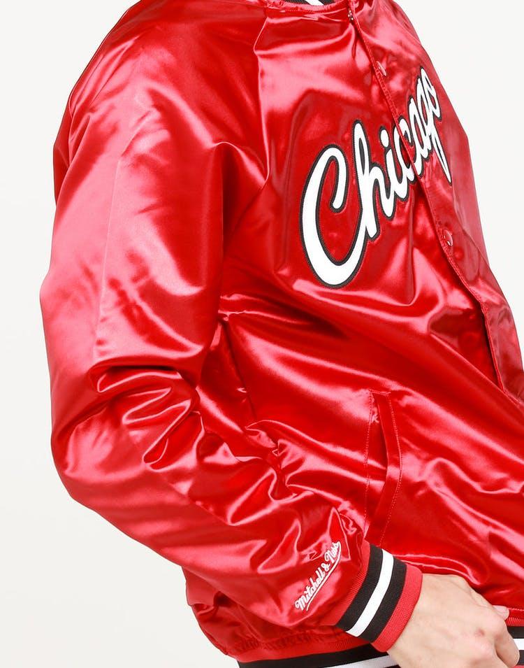 1e1fcff4d Mitchell & Ness Chicago Bulls Lightweight Satin Jacket Red – Culture ...