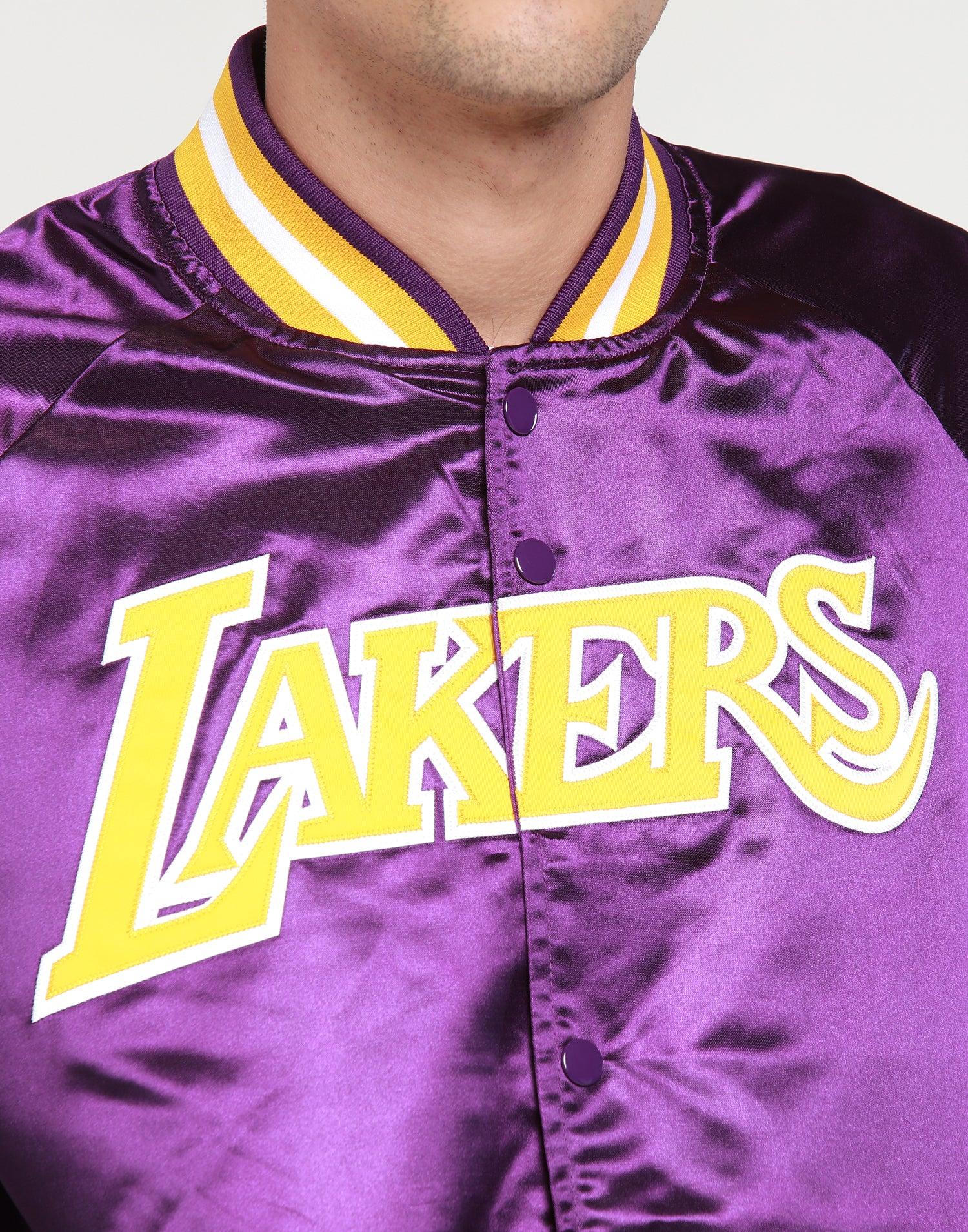 Mitchell & Ness Los Angeles Lakers Lightweight Satin Jacket Purple