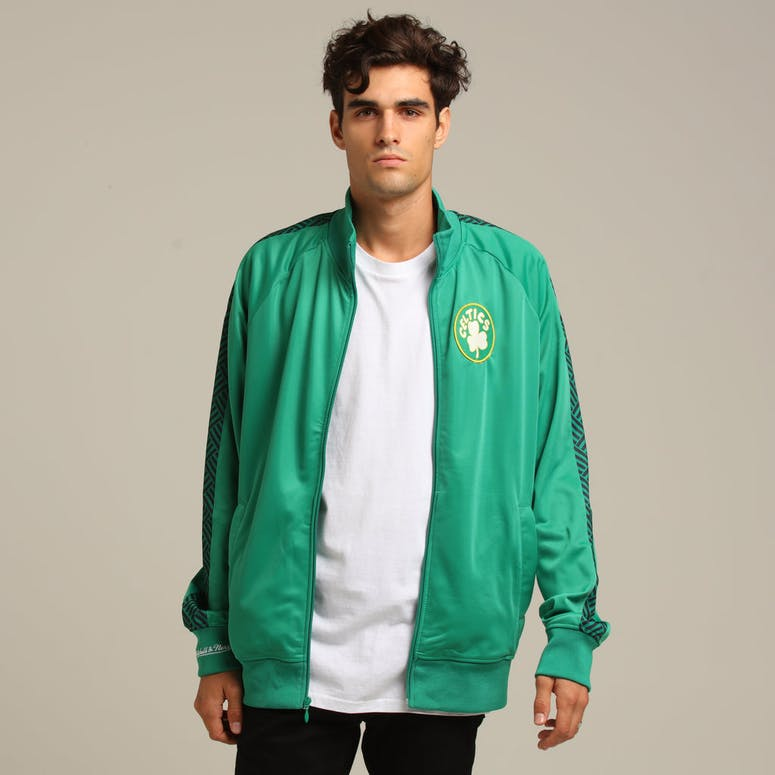 MITCHELL & NESS BOSTON CELTICS PANEL TRACK JACKET GREEN
