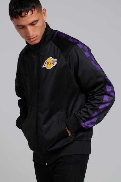 MITCHELL & NESS LOS ANGELES LAKERS PANEL TRACK JACKET BLACK
