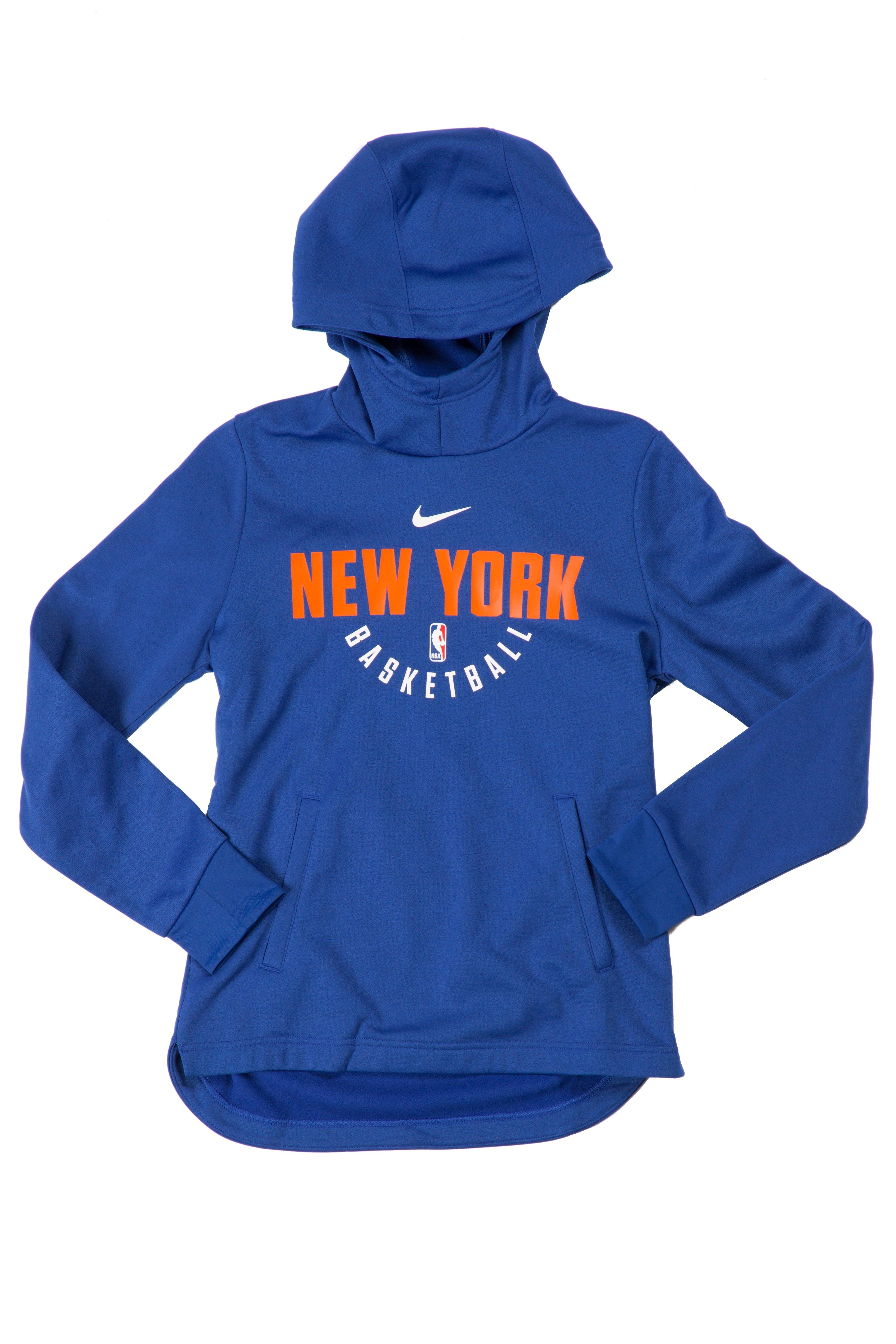 Nike Kid/'s NBA New York Knicks Elite Practice Hoodie New Blue 8 Years