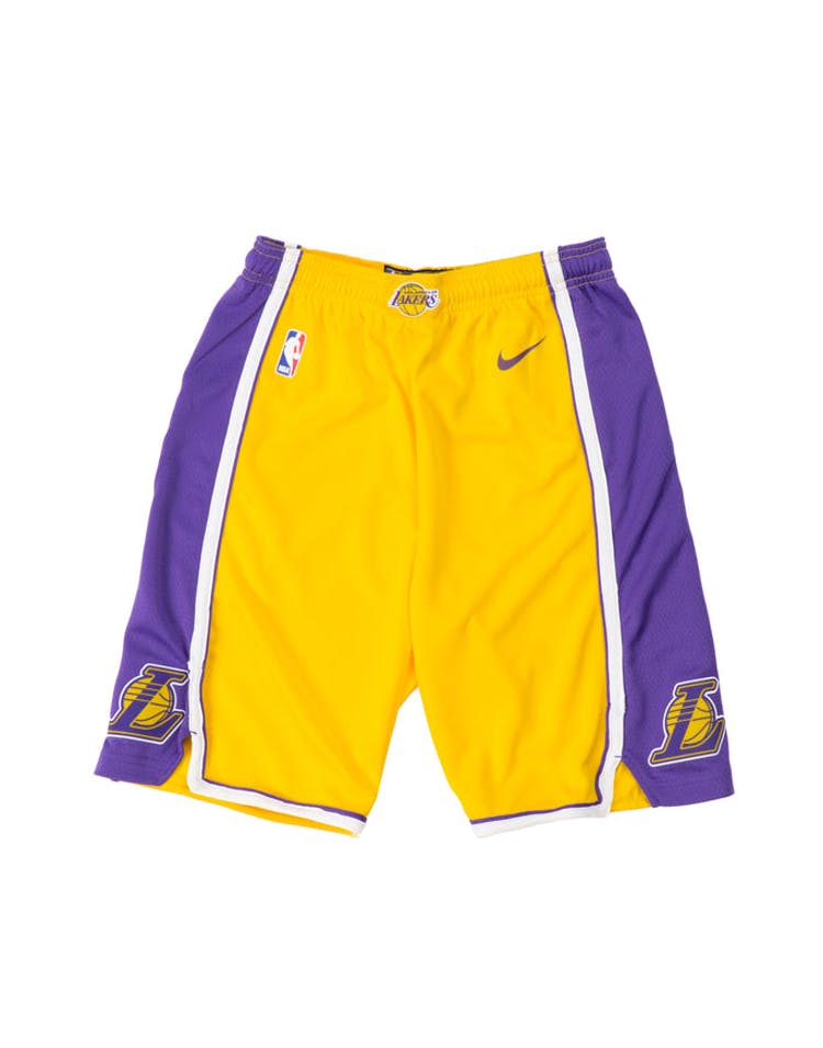 Los Angeles Lakers Nike Icon Youth Swingman Shorts Yellow