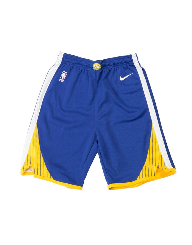new style 6b3d7 8efab Golden State Warriors Nike Icon Youth Swingman Shorts Blue – Culture Kings