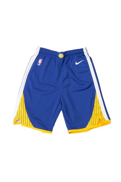 Golden State Warriors Nike Icon Youth Swingman Shorts Blue