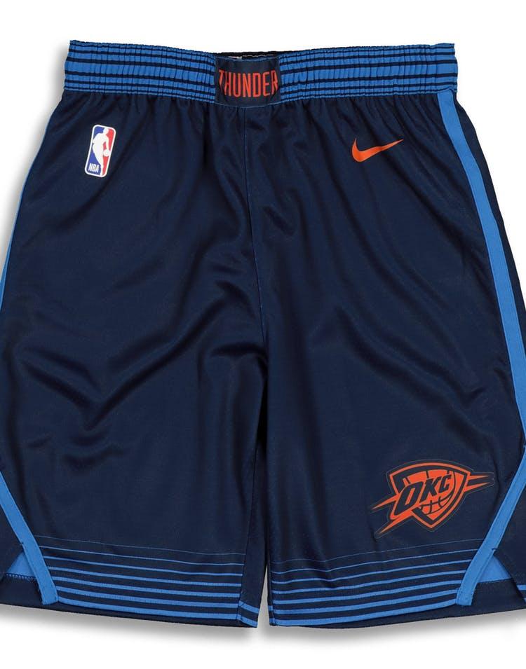 newest d72af bd2a8 Nike Kids Oklahoma City Thunder Statement Swingman Short Navy