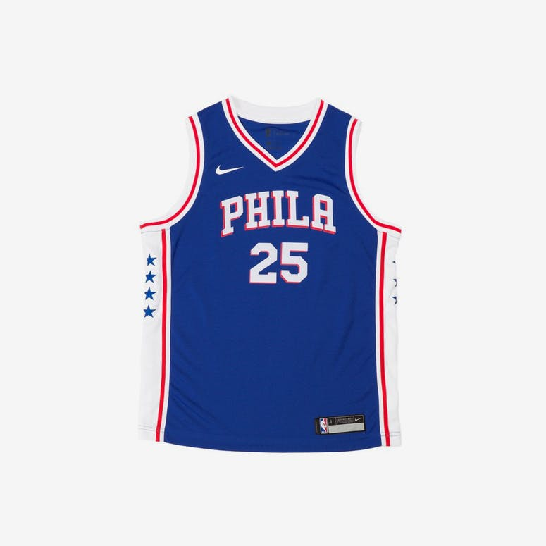 Ben Simmons  25 Nike Icon Edition Youth Swingman Jersey Blue – Culture Kings c8f7f597d