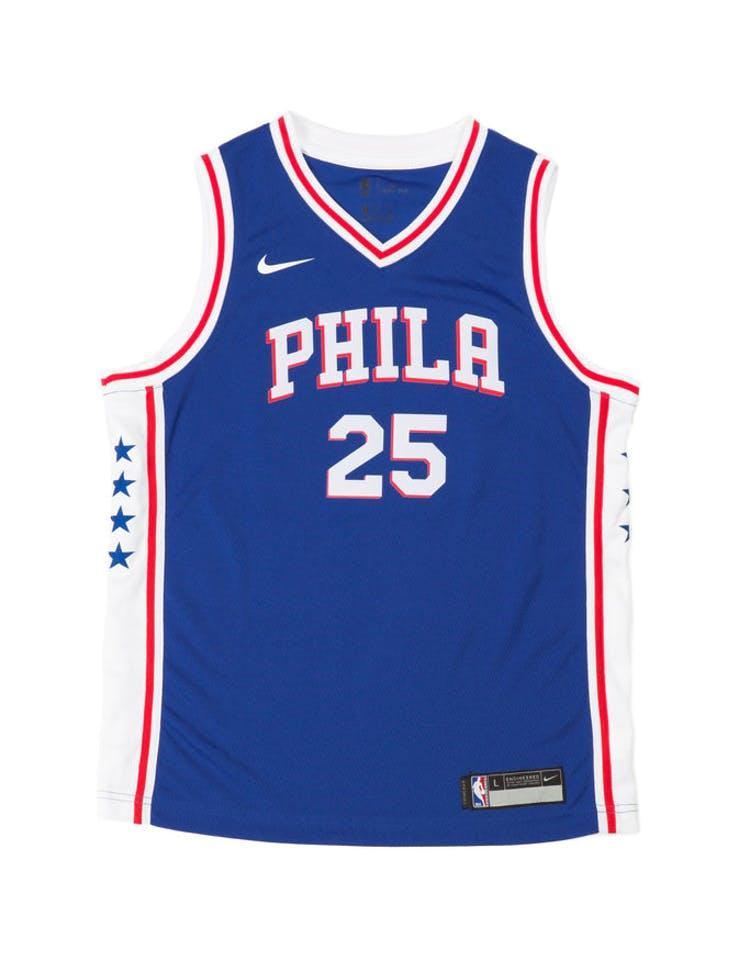 brand new b8b05 60b63 Nike Kids Philadelphia 76ers Ben Simmons #25 Nike Icon Edition Swingman  Jersey Blue