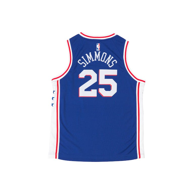 Ben Simmons #25 Nike Icon Edition Youth Swingman Jersey Blue