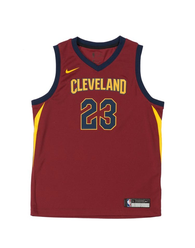 ea2396731 LeBron James  23 Nike Icon Edition Youth Swingman Jersey Burgundy – Culture  Kings