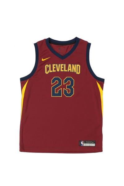 6e15e879839 LeBron James  23 Nike Icon Edition Youth Swingman Jersey Burgundy