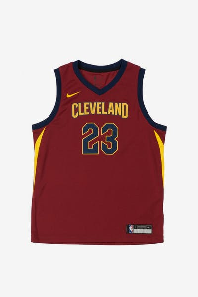 35d4d59092bd LeBron James  23 Nike Icon Edition Youth Swingman Jersey Burgundy