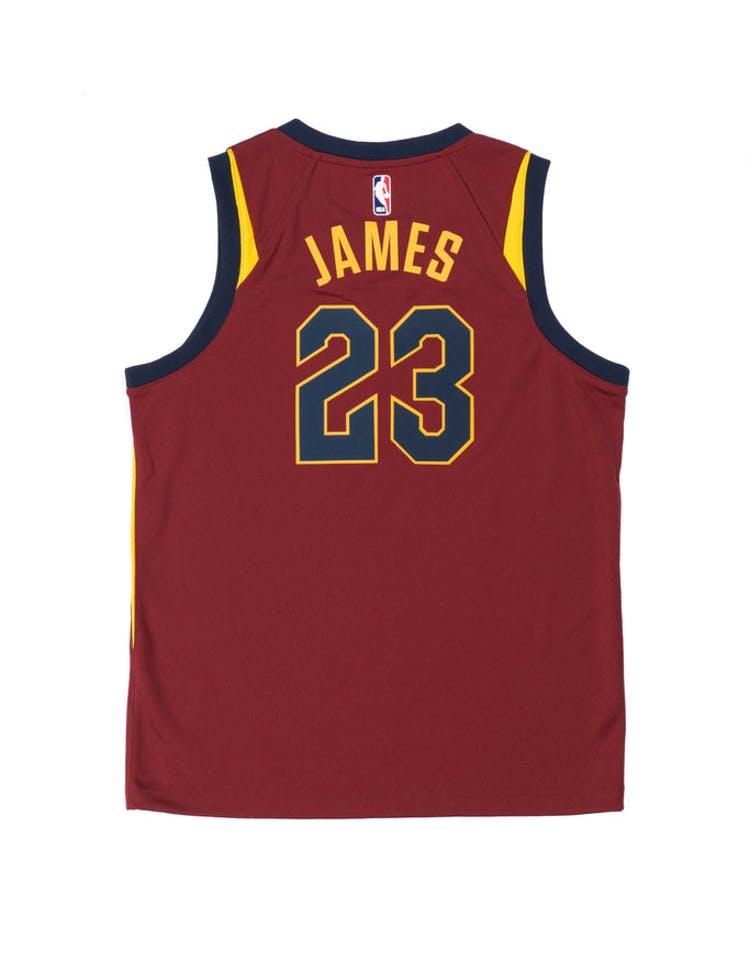 97c73f4edbb4e LeBron James  23 Nike Icon Edition Youth Swingman Jersey Burgundy – Culture  Kings