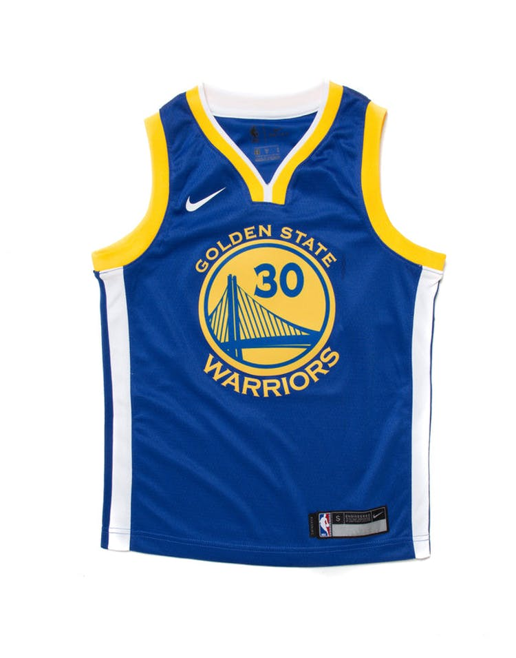 898d3023bba Stephen Curry #30 Nike Icon Edition Youth Swingman Jersey Blue – Culture  Kings