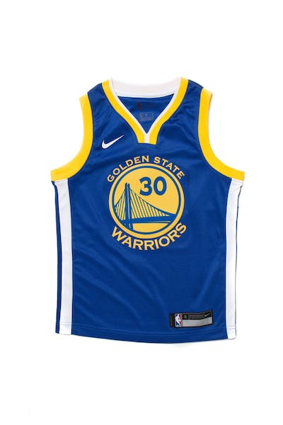 05c1308f3cf Stephen Curry  30 Nike Icon Edition Youth Swingman Jersey Blue