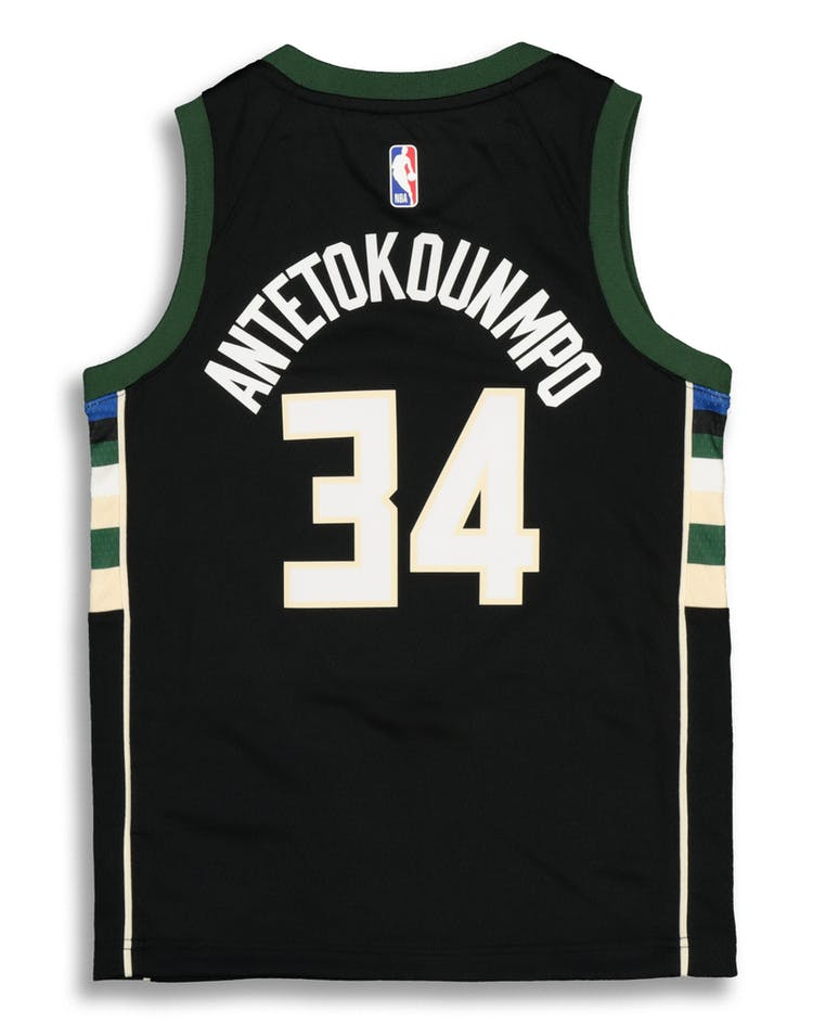 eb433031442 Nike Kids Milwaukee Bucks Giannis Antetokounmpo #34 Statement Swingman NBA  Jersey Black