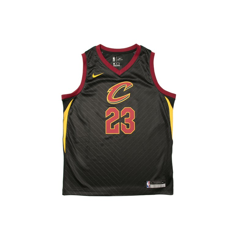 quality design 09ee0 56ee7 LeBron James #23 Nike Statement Edition Youth Swingman Jersey Black