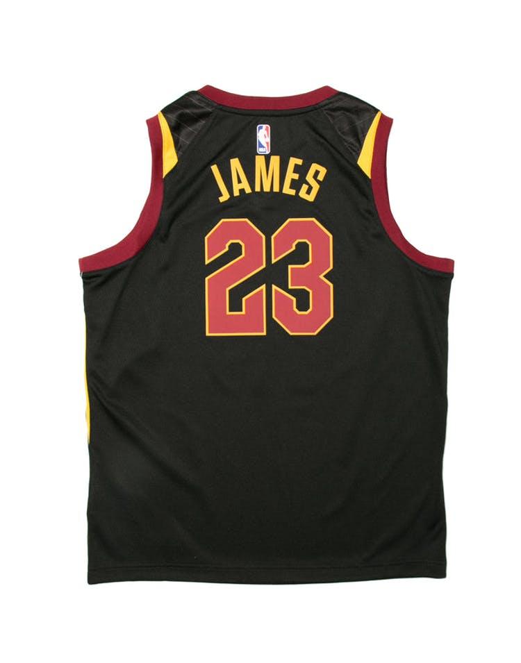 quality design 1471e 9cf3a LeBron James #23 Nike Statement Edition Youth Swingman Jersey Black