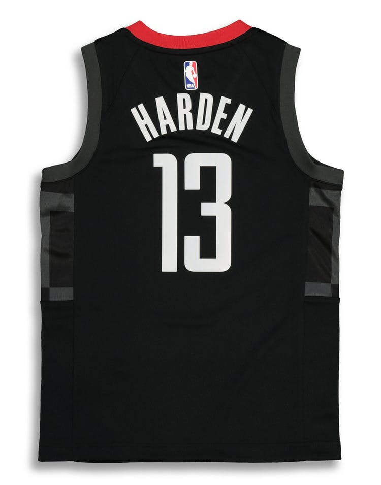 buy online b3bda ef7a2 Nike Kids Houston Rockets James Harden #13 Statement Swingman NBA Jersey  Black