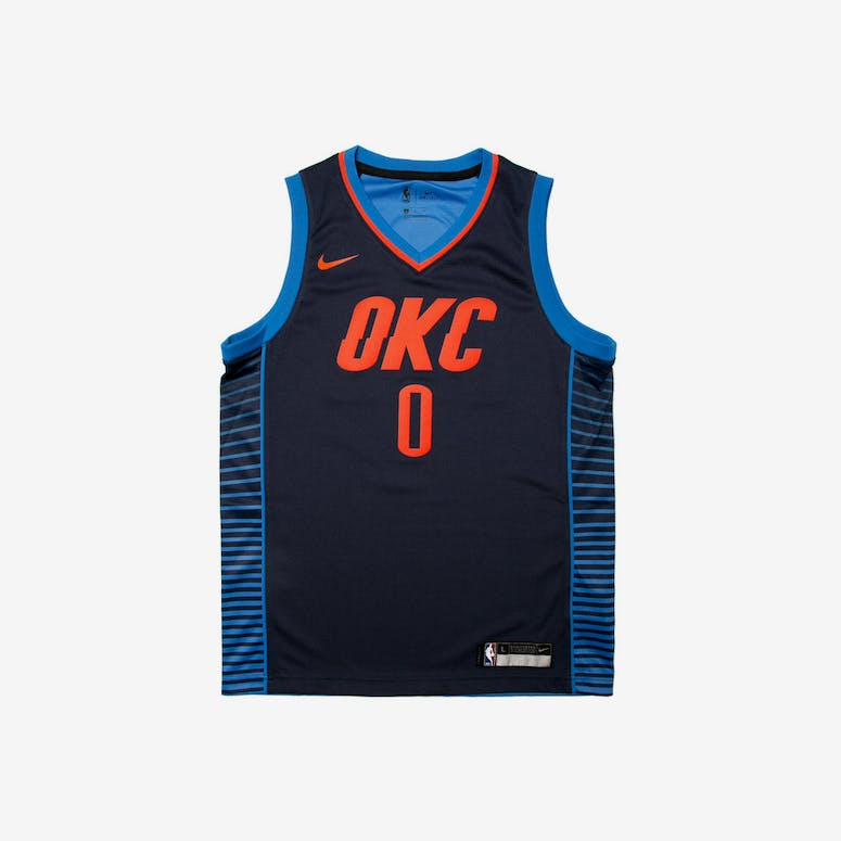Russell Westbrook  0 Nike Statement Edition Youth Swingman Jersey Navy –  Culture Kings 8b24db6d3