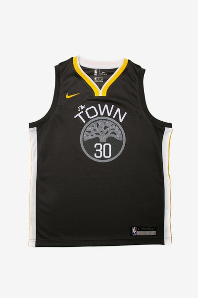 Stephen Curry #30 Nike Statement Edition Youth Swingman Jersey Black