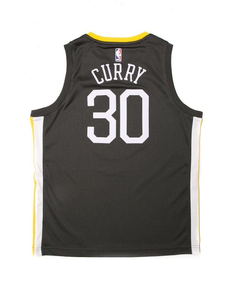 size 40 0ceb1 d77e6 Stephen Curry #30 Nike Statement Edition Youth Swingman Jersey Black